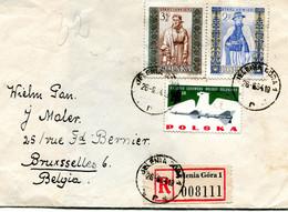 1964 Registered Cover From JELENIA GORA 1 To Bruxelles Belgium - R Sticker With Number 008111 - Brieven En Documenten