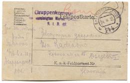 AUSTRIA HUNGARY WW1 - K.u.K. FELDPOST 144, Gruppenkommando, Traveled To Osijek, Year 1918. - WW1