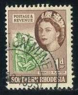 Southern Rhodesia - Tobacco Planter   Agriculture   Crowns And Coronets   Queen Elizabeth II   Royalty   Tobacco Smoking - Tabak
