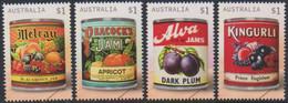 Australie Australia 4577/77 Confitures De Fruits, Jam Labels Vintage - Alimentazione