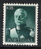 Portugal Stamps |1945 | President Carmona (35c) | #654 | MNH OG - Unused Stamps