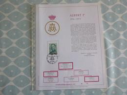 "BELG.1974 1704 FDC Filatelic Gold Card FR.14/500 Ex : "" ALBERT I "" - 1971-80"