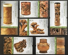 HONG-KONG 1937/42 Bambou, Bamboo, Sculpture, Artisanat, Parfum, Insecte, Flore, Champignon - Non Classificati