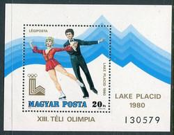 HUNGARY 1979 Winter Olympics Block MNH / **.  Michel Block 140 - Ungebraucht
