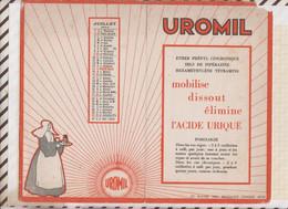 21/126 Buvard UROMIL Produit Pharmaceutique JUILLET 1933 Double - Shoes