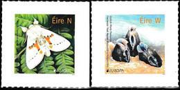 Europa Cept - 2021 - Ireland, İrland, Eire - 2.Stamps - (Wildlife) Self_Adhesive ** MNH - 2020