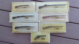 LOT DE 7 MINI ARMES EN METAL COLLECTION ANNEES 80? NE FONCTIONNE PAS BIEN SUR - Armi Da Collezione