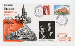 """FR. -  SERVICE - N° Yvert 54 SUR ENVELOP. Obli CàD DU """"8/10/1979 DU CONSEIL DE L'EUROPE - STRASBOURG""""   (ENVELOP. ILLU - Lettres & Documents"""