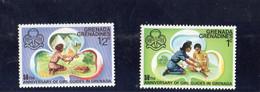 1976 Grenada Grenadines 50° Ann. Girl Guides In Granada - Grenada (1974-...)