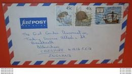 NEUSEELAND 1051 1183 A 1217 Vogel Kiwi Schiff Kolumbus Santa Maria -- Wellington ....1992 -- Brief Cover (2 Foto)(38853) - Cartas