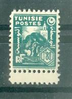 TUNISIE - N° 254** MNH  LUXE SCAN DU VERSO. Bord De Feuille. - Ongebruikt