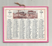 Calendrier , Petit Format , 125 X 100 Mm , 1939 , 2 Scans - Small : 1921-40