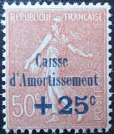 2937 - 1928 - TYPE SEMEUSE LIGNEE - CAISSE D'AMORTISSEMENT - N°250 NEUF* - Sinking Fund
