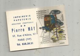Calendrier , Petit Format , Petit Almanach Pour 1965 , Imprimerie Papeterie PIERRE MAY , 97 Rue D'Alésia ,Paris 15 E - Tamaño Pequeño : 1961-70