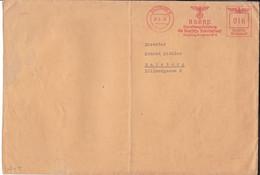 """Absender Freistempel Salzburg """" Deutsche Arbeitsfront Gauleitung Salzburg """" 1940 - Covers & Documents"""
