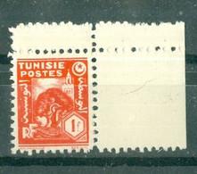TUNISIE - N° 256** MNH  LUXE SCAN DU VERSO. Coin De Feuille. - Ongebruikt