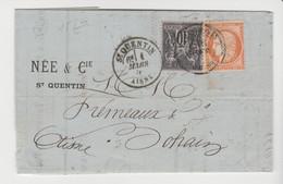 AISNE: St QUENTIN / LAC De 1878 / Cérès + Sage Pour Bohain - 1877-1920: Semi-Moderne