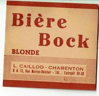 Ancienne étiquette Brasserie Caillod à Charenton 94 - Beer