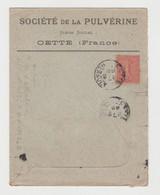 HERAULT:  Société De PULVERINE à Cette / LSC De Cette De 1906 - 1877-1920: Periodo Semi Moderno