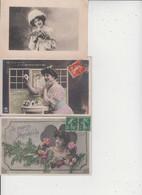 FANTAISIES  -  FEMMES  -  LOT DE 50 CARTES  -  Qqes Ex En Scan  - - 5 - 99 Postcards