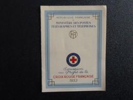 M1 - Carnet Croix Rouge 1953 - Oblitération Premier Jour Le Havre 12 Dec. 53 - Red Cross