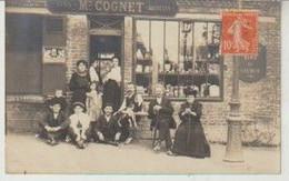 Carte_Photo Maison COGNET Vins Liqueurs (Belle Animation. A Situer) 1910 - Cafés