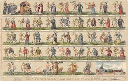 SUISSE Der Totentanz. La Danse Macabre. Superbe Et Originale Animation. Carte Gaufrée, Vierge, En Très Bon état - Ohne Zuordnung