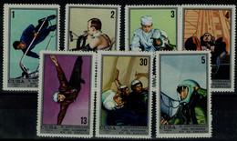 CUBA 1971 10 YEARS OF MANNED SPACE  MI No 1681-7 MNH VF!! - Südamerika