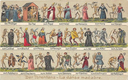 SUISSE Der Totentanz. La Danse Macabre( Autre Présentation) Superbe Et Originale Animation. Carte Gaufrée, Vierge., - Ohne Zuordnung