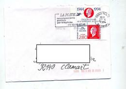 Lettre Flamme Paris 14 Poste Renseignement Sur Dulac Carnet - Sellados Mecánicos (Publicitario)