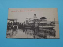 Approdo S. M. ELISABETTA - Lido  - Venezia ( Italy ) Anno 19?? ( Voir/see Photo ) ! - Steamers