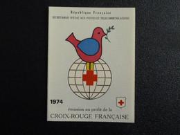 M1 - Carnet Croix Rouge 1974 - Parfait Etat Voir Photos - Red Cross
