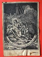 VELIN - PARCHEMIN GRANDE Image Pieuse - 17ième - GRAVURE - F. Huberti - 12 Cm X 8 Cm - FASCICULUS MYRRHAE DILECTUS.... - Devotion Images