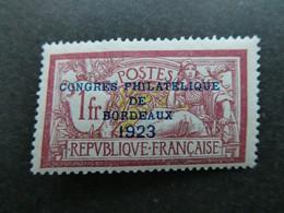 FRANCE Exposition BORDEAUX 1923  N° 182   Neuf Avec Charnière   Signé Calves  Voir 2 Scans - Sonstige
