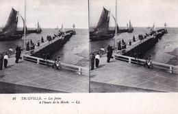 14 - Calvados -  TROUVILLE - Les Jetées A L Heure De La Marée -  Carte Stereoscopique - Trouville
