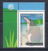 Andorra (French Post) [EUROPA 2021] Endangered National Wildlife - Single Stamp With Labels (MNH) - Sammlungen