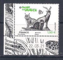 France [EUROPA 2021] Endangered National Wildlife - Single Stamp With Labels (MNH) - Sammlungen