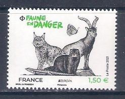 France [EUROPA 2021] Endangered National Wildlife - Single Stamp (MNH) - Sammlungen