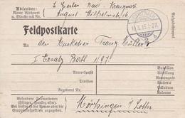 Feldpostkarte - Kreuznach Nach Mörhingen - 1915 (56731) - Covers & Documents