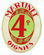 Ancienne étiquette Brasserie Oignies Belgique - Bière
