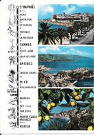 La Carte Itinéraire Pratique De Saint-Raphaël à Menton Par Le Bord De Mer - Provence-Alpes-Côte D'Azur