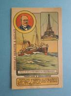 CHROMO Inventions Et Découvertes. BRANLY. Tour Eiffel. Radio-Télégrammes.pour Navires En Mer. Marconi. - Unclassified