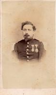 Carte De Visite Cdv , Gerschel Fres Strasbourg, Capitaine Mizerin Militaire - War, Military