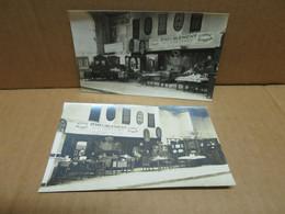 COURTENAY (45) 2 Cartes Photos EXPOSITION Ameublement CHEVENOT - Courtenay
