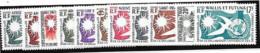 Grande Série Coloniales 1958 Déclaration Des Droits De L'Homme 11 Valeures Neuves Sans Charnière, Série Incomplète - Unclassified