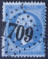 22 Obl GC 1709 La Grave (4 Hautes Alpes ) Ind 9 ; Frappe Très Nette - 1849-1876: Période Classique