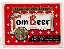 Ancienne étiquette Brasserie Lespagnol à Raches 59 - Bière