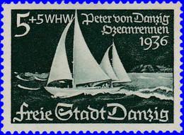 """Dantzig 1938. ~ YT 246* - Voilier """"Pierre De Dantzig"""" - Danzig"""