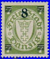 Dantzig 1934. ~ YT 205* - 8/7 Armoiries - Danzig
