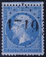 22a Voisin, Variété Filet SO + Anneau-lune Médaillon, Obl GC 1719 Grésy (88 Savoie ) Ind 8 - 1849-1876: Classic Period